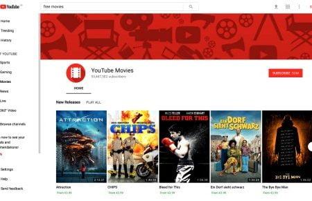 Ahora puedes ver películas gratis en YouTube